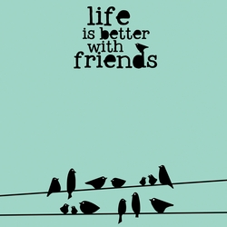 Simple Sayings: Friends 12 x 12 Paper