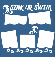 Sink Or Swim 12 x 12 Overlay Quick Page Laser Die Cut