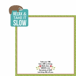 Sloth: Relax 2 Piece Laser Die Cut Kit