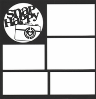 Snap Happy 12 x 12 Overlay Quick Page Laser Die Cut
