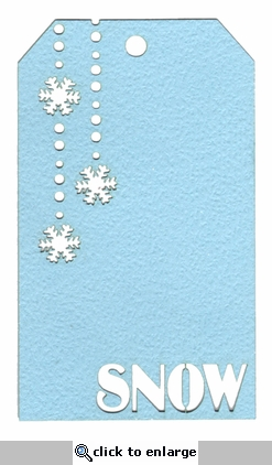 Snow Tag Laser Die Cut