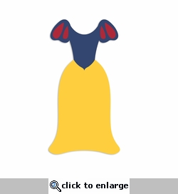 Snow White: Dress Laser Die Cut