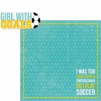Soccer Champ: Girl With Goals 2 Piece Laser Die Cut Kit