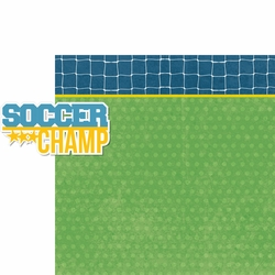 Soccer Champ: Soccer Champ 2 Piece Laser Die Cut Kit