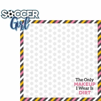 Soccer Goals: Soccer Girl 2 Piece Laser Die Cut Kit