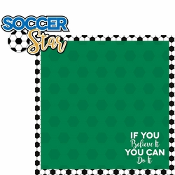 Soccer Goals: Soccer Star 2 Piece Laser Die Cut Kit