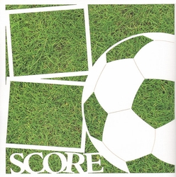 1SYT Soccer: Score 12 x 12 Overlay Quick Page Laser Die Cut