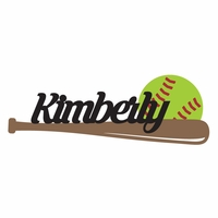 Softball: Custom Softball die cut Laser Die Cut