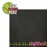 Softball: Eat Sleep Play 2 Piece Laser Die Cut Kit