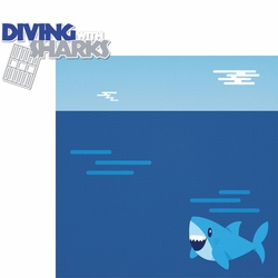 South Africa: Diving With Sharks 2 Piece Laser Die Cut Kit