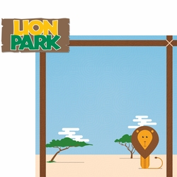 South Africa: Lion Park 2 Piece Laser Die Cut Kit