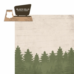 South Dakota: Black Hills 2 Piece Laser Die Cut Kit