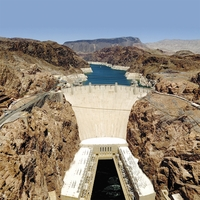 Southwest: Hoover Dam 12 x 12 Paper
