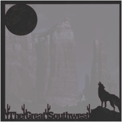 Southwest: Wolf Night 12x12 Overlay Quick Page Laser Die Cut