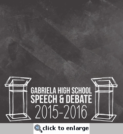 Speech and Debate: Custom 12 x 12 Paper