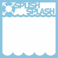 Splish Splash 12 x 12 Overlay Laser Die Cut
