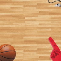Sports Courts: Basketball 12 x 12 Paper