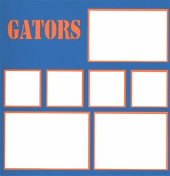 Sports: Gators 12 x 12 Photo Overlay Laser Die Cut