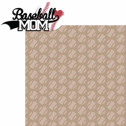 Sports Mom: Baseball Mom 2 Piece Laser Die Cut Kit