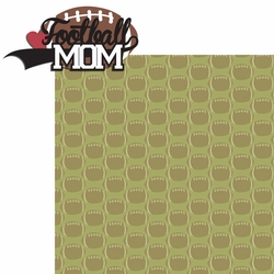 2SYT Sports Mom: Football Mom 2 Piece Laser Die Cut Kit