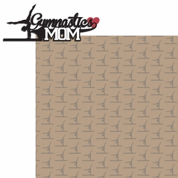 2SYT Sports Mom: Gymnastics Mom 2 Piece Laser Die Cut Kit