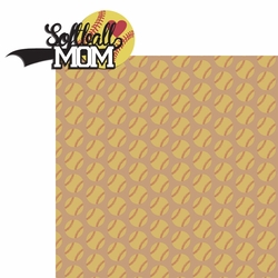 2SYT Sports Mom: Softball Mom 2 Piece Laser Die Cut Kit