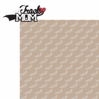 Sports Mom: Track Mom 2 Piece Laser Die Cut Kit