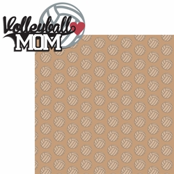 2SYT Sports Mom: Volleyball Mom 2 Piece Laser Die Cut Kit