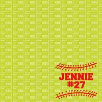 Sports: Softball Custom 12 x 12 Paper