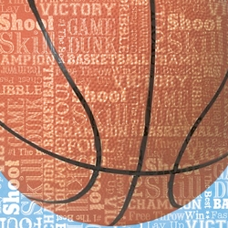 Sports Typography: Basketball 12 x 12 Paper