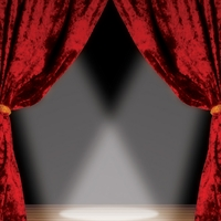 Stage Curtains 12 x 12 Paper