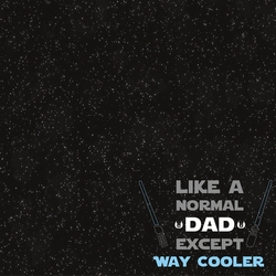 Star Wars: Jedi Master Dad 12 x 12 Paper