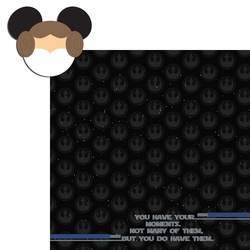 Star Wars: Leia mouse head 2 Piece Laser Die Cut Kit