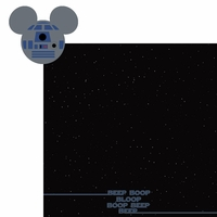 Star Wars: R2D2 mouse head 2 Piece Laser Die Cut Kit