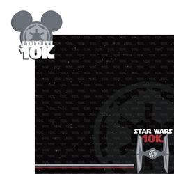 Star Wars Run: 10k 2 Piece Laser Die Cut Kit