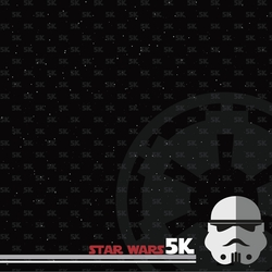 Star Wars Run: 5k 12 x 12 Paper