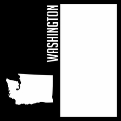 States: Washington 12 x 12 Overlay Laser Die Cut