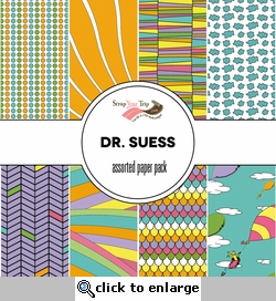 Suess Assorted 12 x 12 Paper Pack