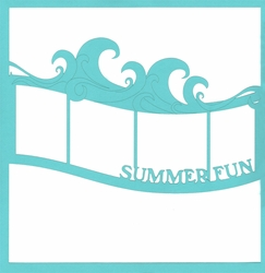Summer Fun Wave 12 x 12 Overlay Laser Die Cut