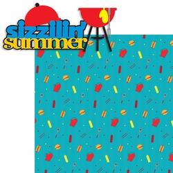 2SYT Summer Love: Sizzilin' Summer 2 Piece Laser Die Cut Kit