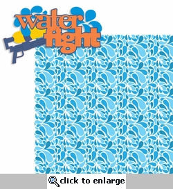 Summer Love: Water Fight 2 Piece Laser Die Cut Kit