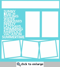 Summer Stacked Words 12 x 12 Overlay Laser Die Cut
