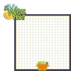 Summertime: Water Fight 2 Piece Laser Die Cut Kit