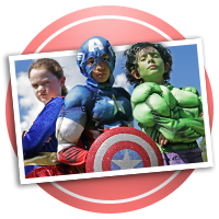 Super Hero Scrapbooking