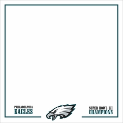 Superbowl LII Eagles Champs 12 x 12 Paper