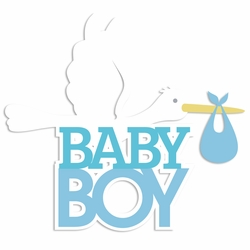 Sweet Baby: Baby Boy Laser Die Cut