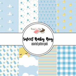Sweet Baby Boy Assorted 12 x 12 Paper Pack