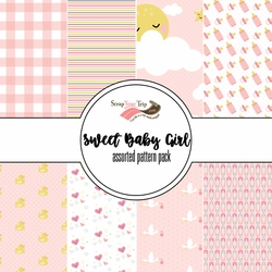 Sweet Baby Girl Assorted 12 x 12 Paper Pack