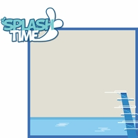 Swimming and Diving: Splash Time 2 Piece Laser Die Cut Kit