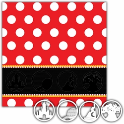 1-2-3 Theme Park Emblem 12 x 12 Layout Kit